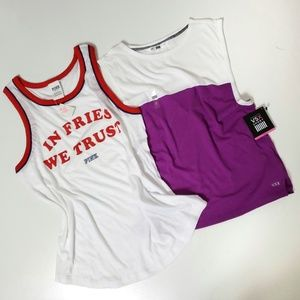 Two Pink and Victoria's Secret tanks small NWT